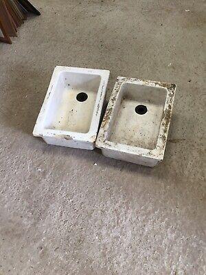 2 Old Tiny Belfast Sinks Ideal Alpine Planters Each Side Of Door Cute  17/9/P