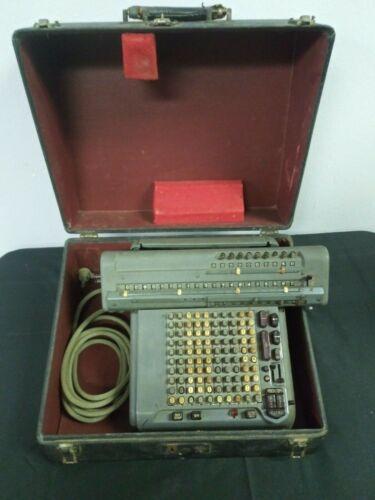 MONROE MonroMatic Adding Machine Calculator Model CSA-10 RUNS - with Case/Cord