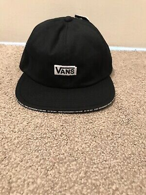 Vans Mens X Baker Jockey Snapback Logo Cap One Size Black Hat Brand New Genuine