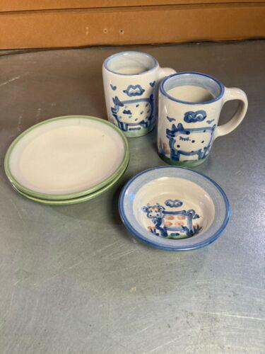 Vintage 5 pc. Pottery Set- M A Hadley