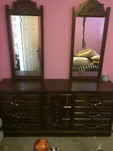 Dresser, nightstands, headboard
