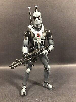 "MARVEL LEGENDS EPIC HEROES DEADPOOL 6"" FIGURE GREY X-FORCE VARIANT RARE LOOSE"