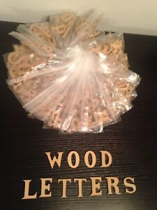 240 Upper & Lower Case wood Crafting Alphabet Letters