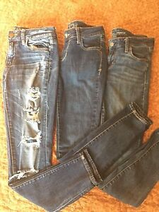 3 pair skinny jeans size 4. $10 for all!!!!