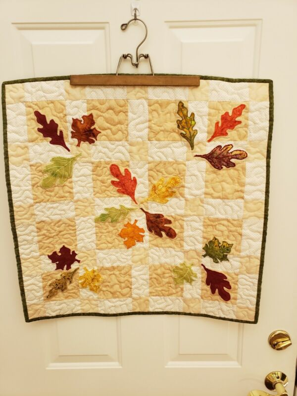 Fall Themed Quilted Table Topper - Furniture Protector  - New Handmade.