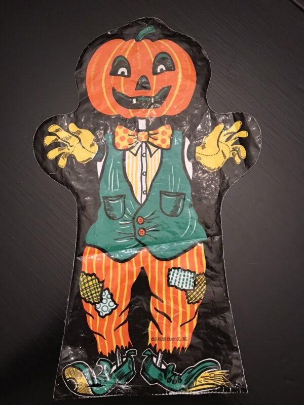 vintage flavour candy plastic jack o lantern halloween puppet