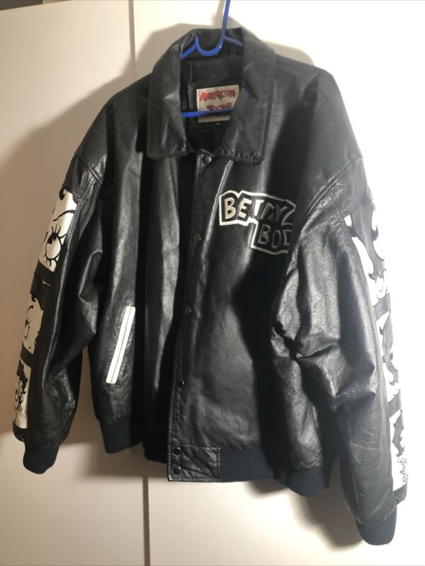 Vintage American Toons By Excelled Betty Boop Leather Jacket Size Xl Men's Size