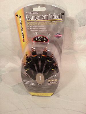 Monster Cable Monster Standard Component Video 1 SV1CV-1M 1 meter Component  NEW
