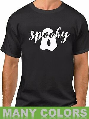Spooky T-Shirt Ghost Easy Halloween Costume Funny Tee Fall Shirt Trick or Threat](Easy Funny Adult Halloween Costumes)