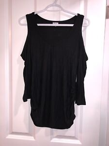 Black long sleeve with cutout shoulders