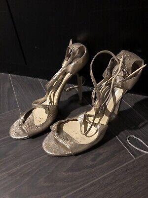Jimmy Choo Lance Gold High Heel Sandals 40 Gold High Heel Sandals