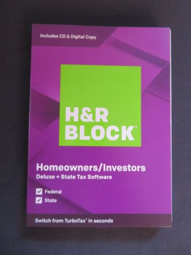 2019 H & R Block Homeowners/Investors Deluxe FAST AUTHENTIC DOWNLOAD ONLY