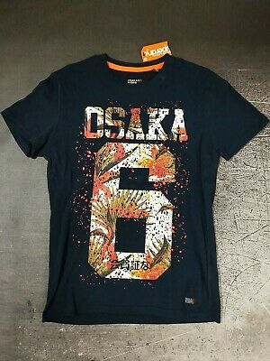 Superdry Osaka 6 Project Hibiscus Infill T-Shirt Three Pointer Navy NWT