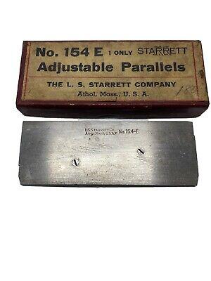 Vintage Starrett No. 154-e Precision Adjustable Parallels With Original Box
