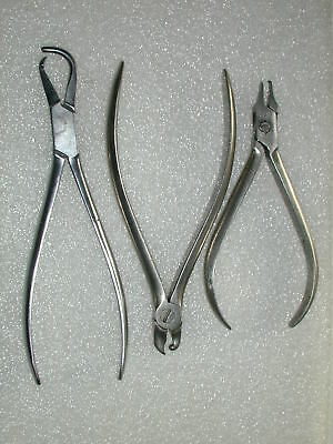 A Lot Of 10 Assorted Orthodontic Pliers Lot 1