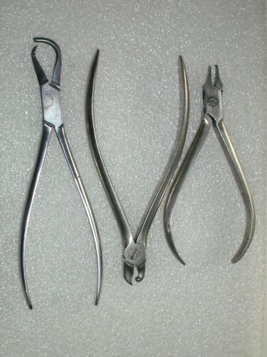 A Lot of 10 Assorted Orthodontic Pliers (lot #1)