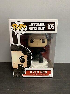 Funko Pop Star Wars The Force Awakens Kylo Ren Unmasked #105 W/ Protector