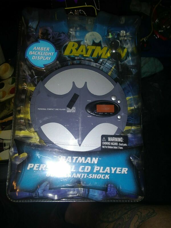 RARE BATMAN Personal CD Player-60 Sec Anti Shock-NEW SEALED COLLECTIBLE