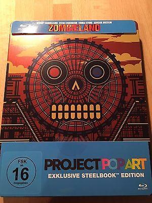 NEU: ZOMBIELAND Steelbook-Edition, Project PopArt (Harrelson,Eisenberg, Pop Art)