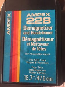 Ampex 228 demagnetized and headcleaner for 8-track tape