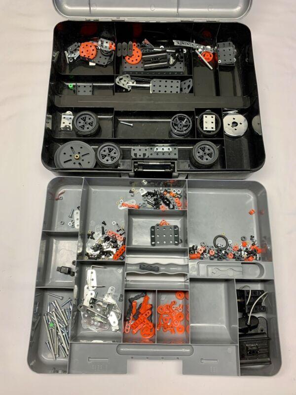 Erector Set Meccano Plastic Grey Storage Case with Building Accessories