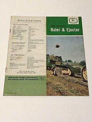 1960s John Deere Tractor 24t Baler Ejector Dealers Promotional Catalog Manual