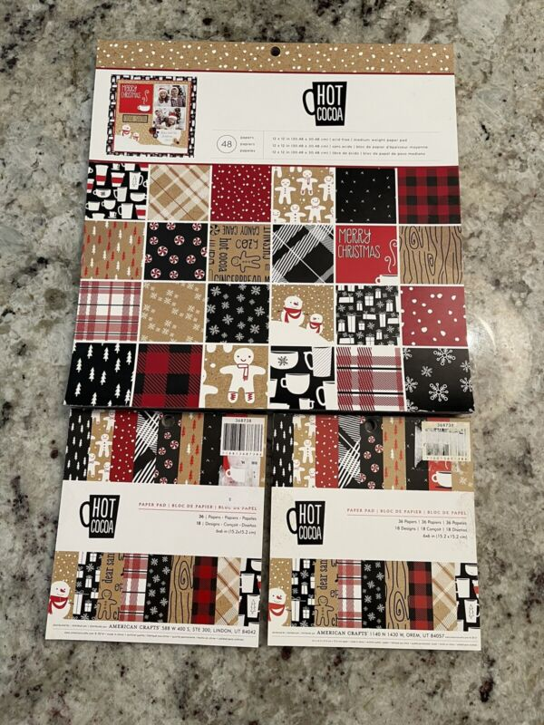 American Crafts Hot Cocoa Christmas Paper Pads