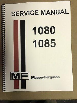 1085 Massey Ferguson Tractor Technical Service Shop Repair Manual Mf1085