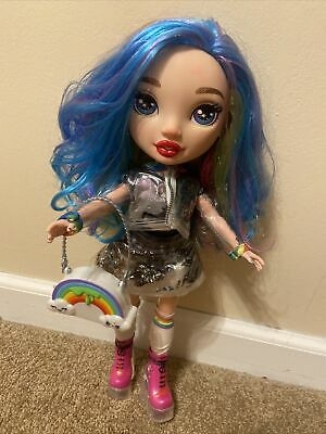 "2019 MGA Poopsie Rainbow Surprise 14"" Doll Tattoos Rainbow Hair W/clothes shoes"
