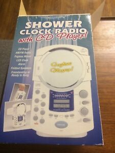 Shower clock radio and CD player