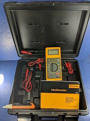 New Fluke 27 Digital Multimeter Hard Case Accessories