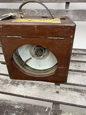 Toulet Imperator Vintage Pigeon Racing Timer Clock in Wooden Case- Untested