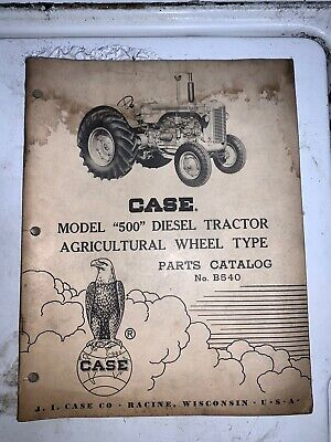 Vintage Original Case 500 Diesel Tractor Parts Catalog