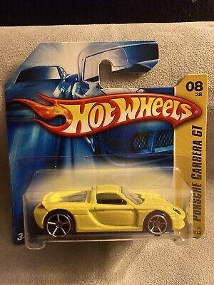 Hot Wheels 2006 First Editions 2004 Porsche Carrera GT (Yellow) RARE SHORT CARD