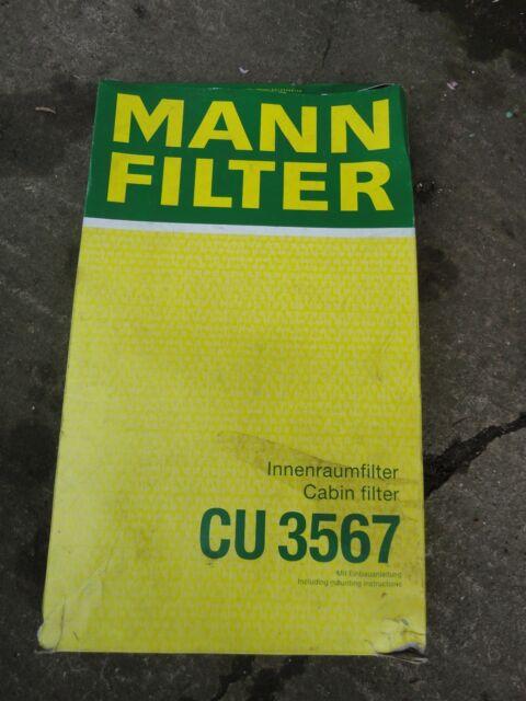 CU3567  MANN & HUMMEL CABIN AIR FILTER fit Ford Zetec 1.8 Di/Tdi 09/98