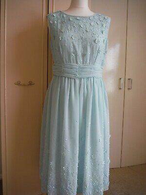 JENNY PACKHAM SIZE 10 - 12 BEAUTIFUL BLUE DRESS  PARTY EVENING FORMAL WEDDING