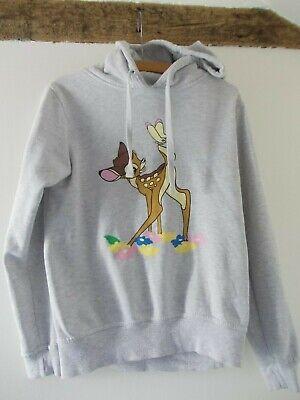 Atmosphere Disney Bambi Sweatshirt Grey Long Sleeve Hoodie Size 10