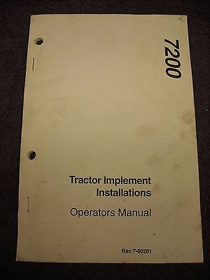 Used Case Ih 7200 Series Tractor Implement Installation Instructions Rac 7-60261
