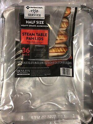 Steam Table Pans Lids Half Size - Heavy Duty Aluminum