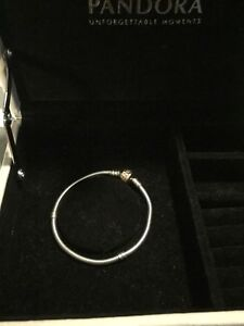 Authentic Pandora 2 tone Bracelet 925 Silver and Rose Gold