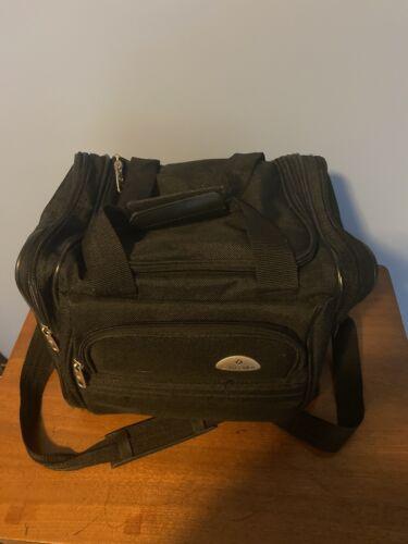 Samsonite Tote Duffle Bag Black - 4 Sections - Hook On Bag 11x14x9 - $3.99