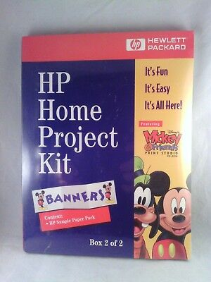 HP Home Project Kit Disney's Mickey & Friends Print Studio Box #2 of 2. Banners