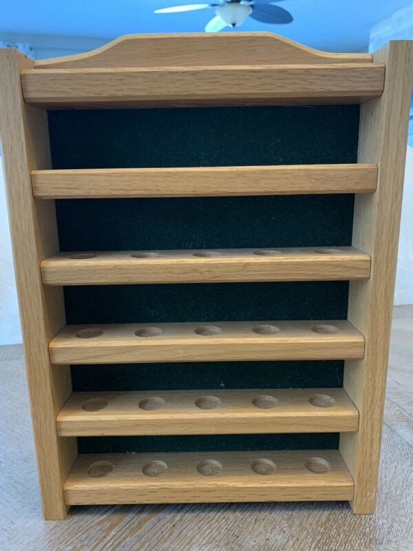 """Wooden Display Case 15""""x11"""" Fits 25 Thimbles.  (Thimbles Not Included)"""