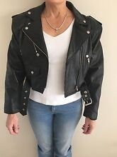 Women's medium leather motorcycle jacket 1990's styled Beaumont Hills The Hills District Preview