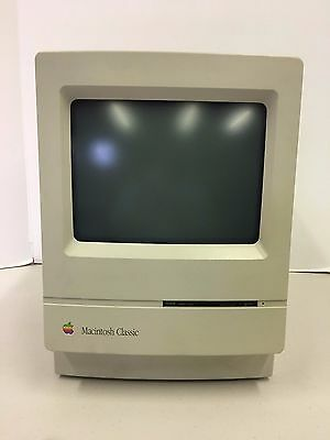 Vintage 1991 Macintosh Classic Model M0420 Computer Monitor Only Untested