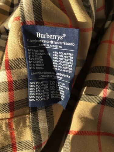 Authentique trench beige coton burberry 56
