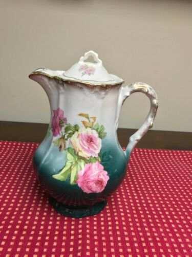 Antique Hand Painted Coffee Pot