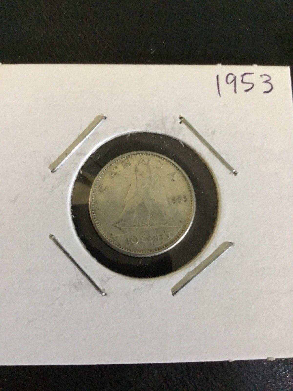 Canada  1963 10 cent Dime coin 2.33grams, 80/% Silver