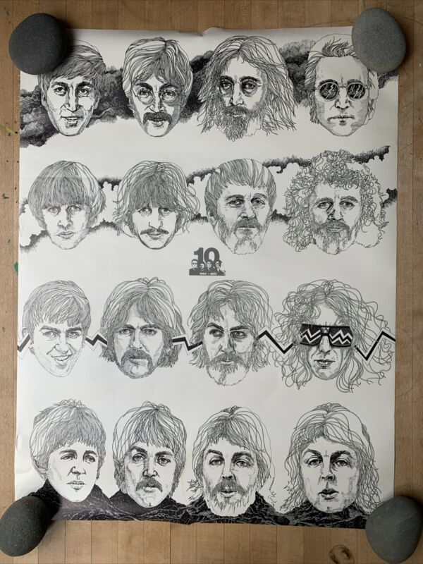 The Beatles 1974 Anniversary Original Keith McConnell Poster
