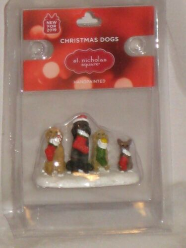 """NEW St. Nicholas Square """"Christmas Dogs"""" An Accessory From Village Collection"""